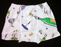 Novelty boxer shorts, hand drawn